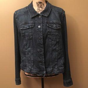 Lane Bryant long sleeved jean jacket size 20